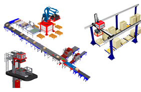 Patented and market leading de-palletizing solution (Layer Picker®) and associated material handling equipment.
